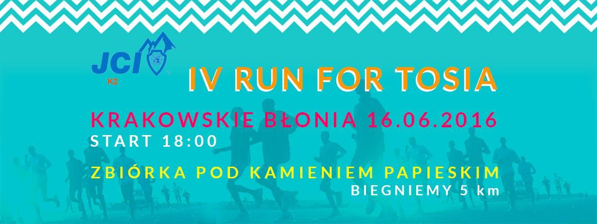 Run for Tosia! 16 czerwca - krakowskie Błonia